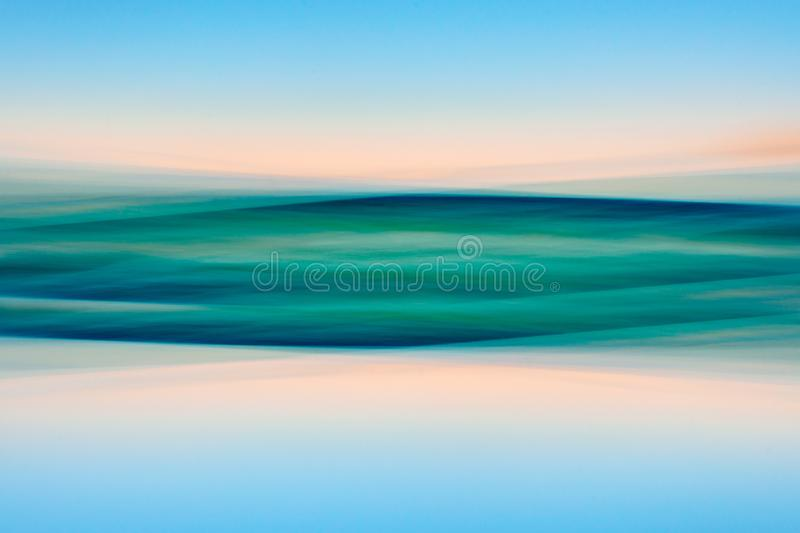 Tropical Beach. Abstract Background. Motion Blur. Blue, Pink, Yellow, Turquoise Colors royalty free stock photography