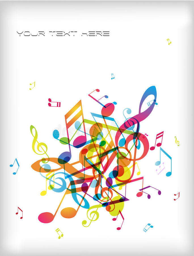 Download Abstract Background With Tunes. Stock Photo - Image: 14096970