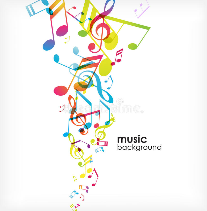 Download Abstract Background With Tunes. Stock Images - Image: 14097994