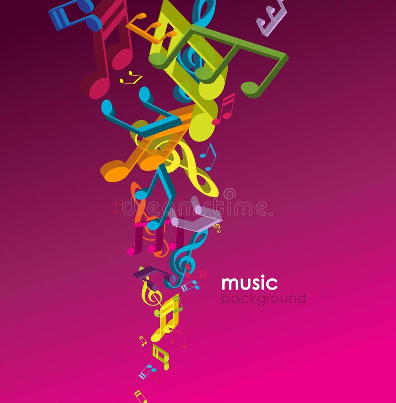 Download Abstract Background With Tunes. Stock Vector - Image: 15913027