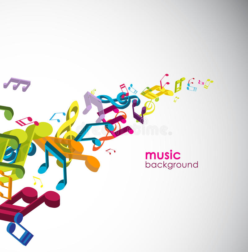Download Abstract Background With Tunes. Stock Vector - Image: 17019866
