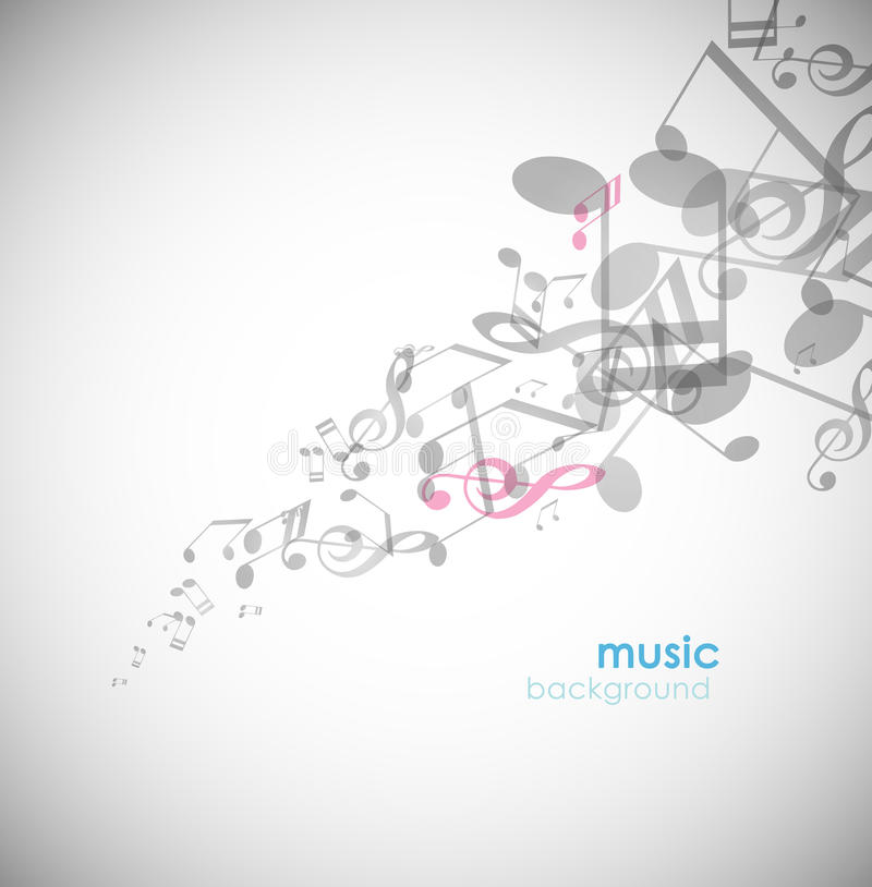 Download Abstract Background With Tunes. Stock Vector - Image: 17538597