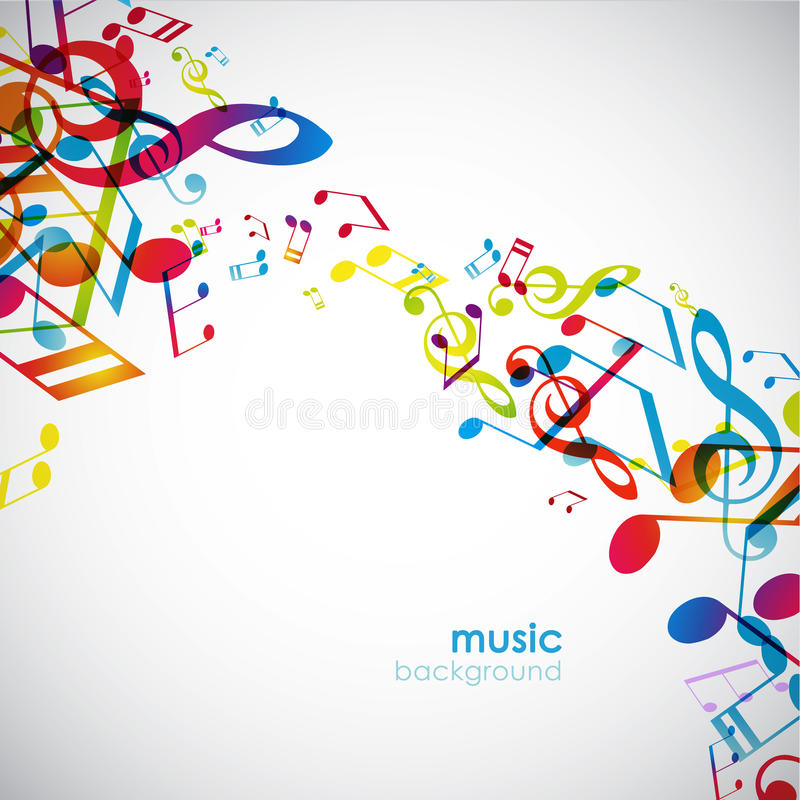 Download Abstract Background With Tunes. Stock Vector - Image: 18395895