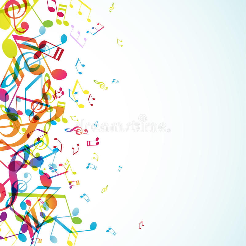 Download Abstract Background With Tunes Stock Vector