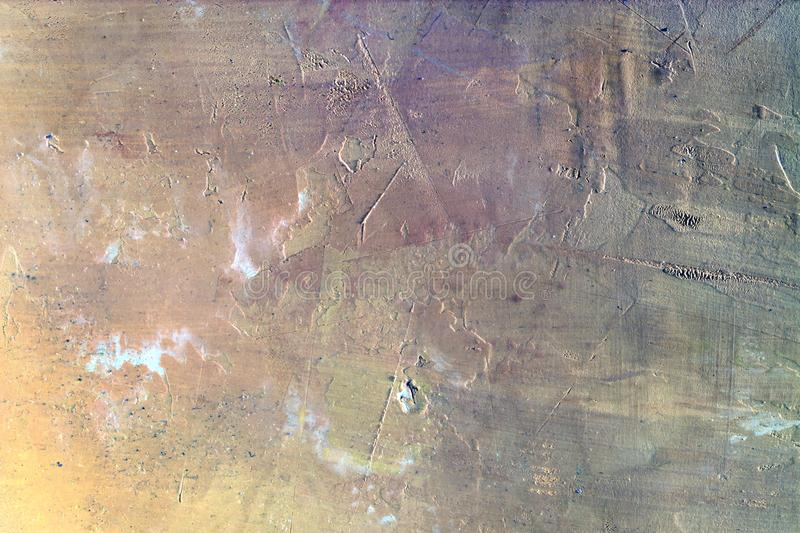 Abstract background of uneven plaster. Unusual color transitions, empty space. royalty free stock photos
