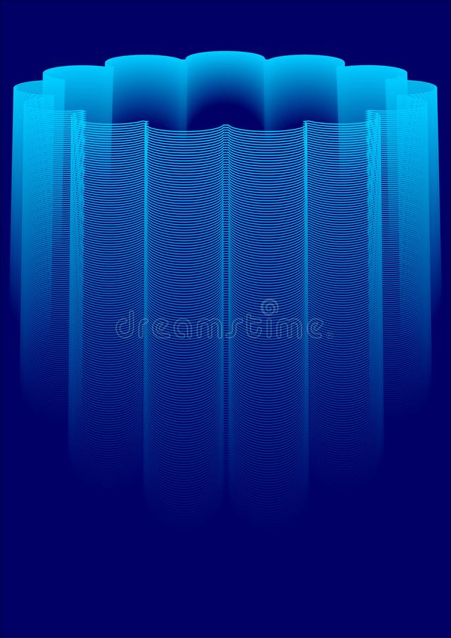Abstract background with unique shapes vector illustration