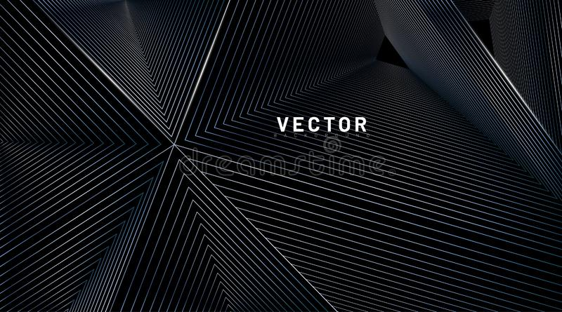 abstract background vector. illusion of triangular lines. Vector illustrations for wallpapers, banners, backgrounds, cards, book vector illustration