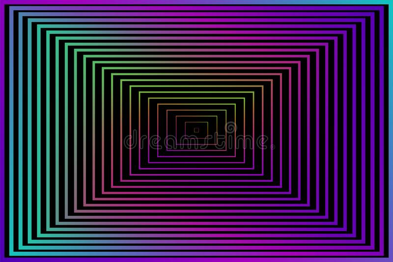 Abstract Background. Vector illustration for your wallpaper or design. Black, purple, pink, blue, green colors. Square colored mod stock illustration