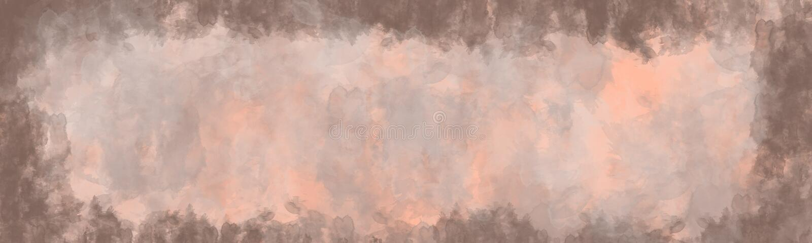 Abstract background, vintage texture with border stock illustration