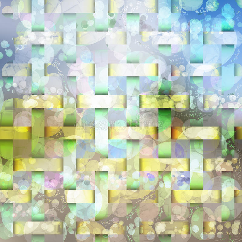 Abstract background vivid colors texture shapes and bubbles stock illustration