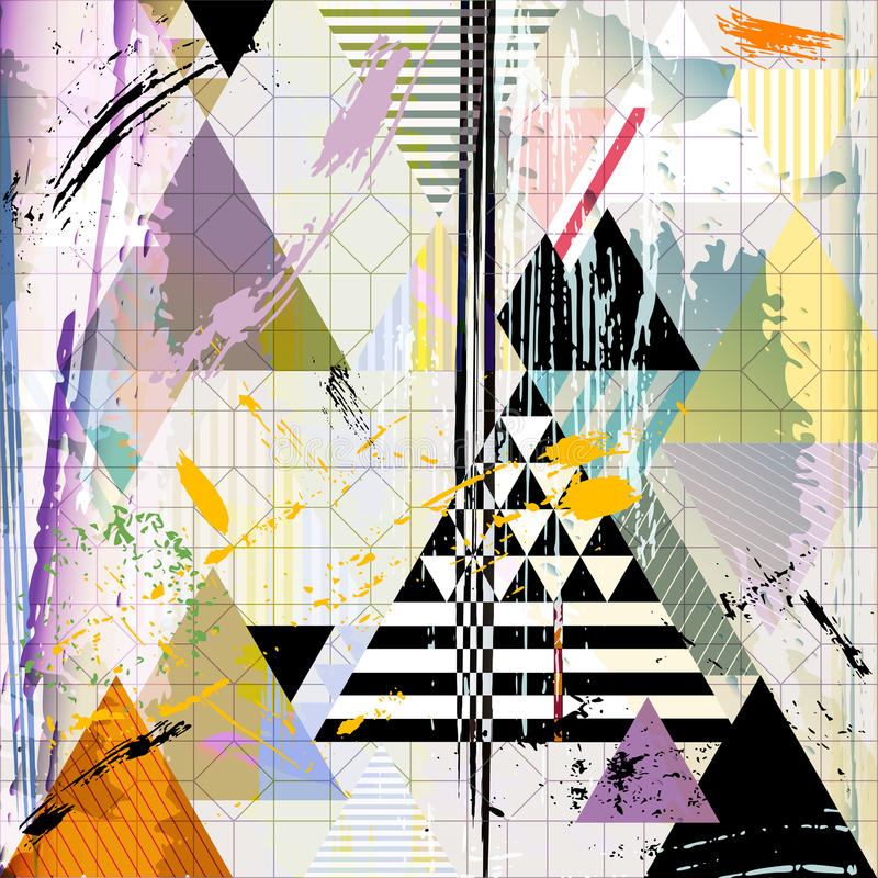 Free Abstract Background W. Triangles, Vector Royalty Free Stock Photography - 51153317
