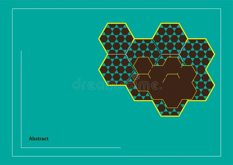 Abstract Background Wallpapers Combination Hexagon Honeycomb stock image