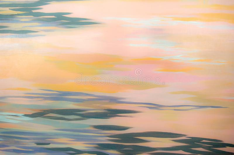 Abstract background in warm and cold colors royalty free stock photography