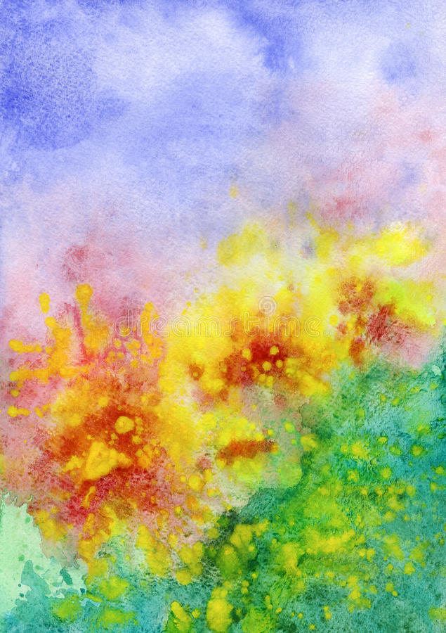 Abstract background, watercolor vector illustration