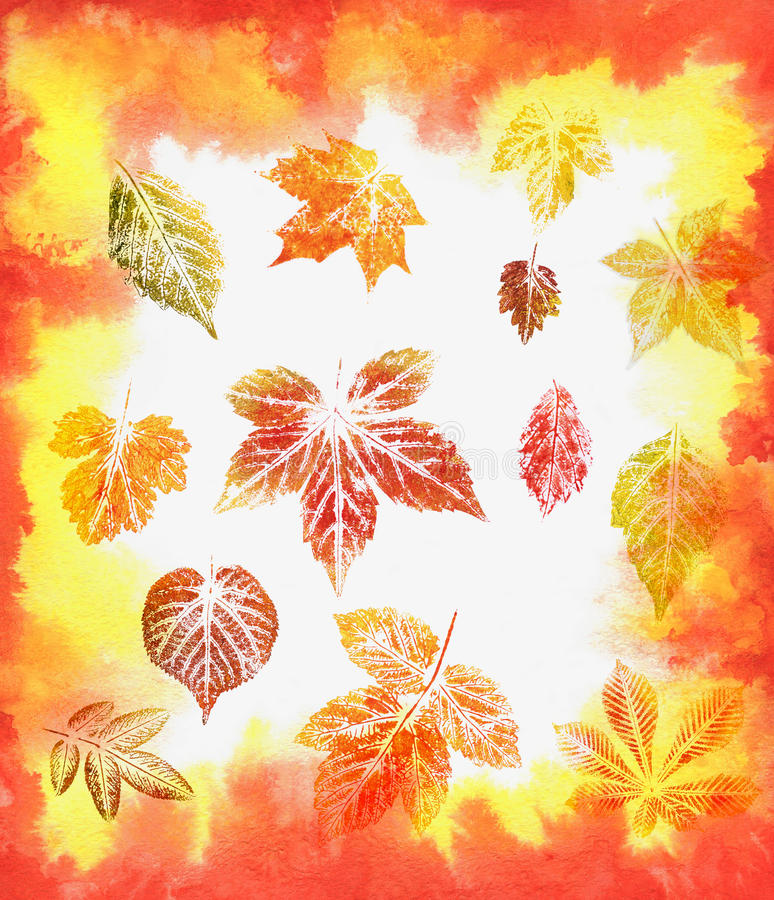 Download Abstract Background, Watercolor: Leafs Stock Illustration - Illustration: 18423309