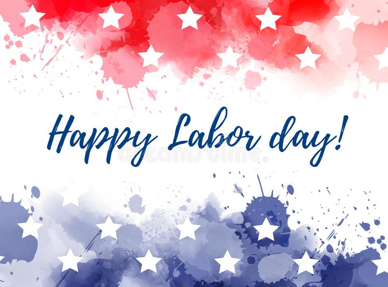 USA Happy Labor day royalty free illustration