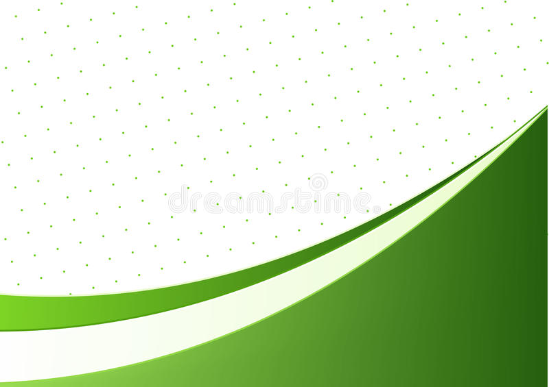 Abstract background with wave. Abstract background with green wave stock illustration