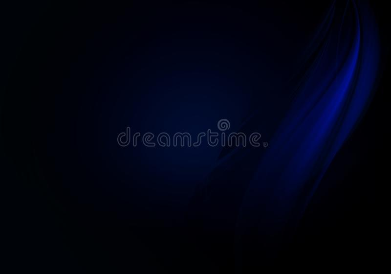 Abstract background waves. Black and blue abstract background with space for your text.  stock illustration