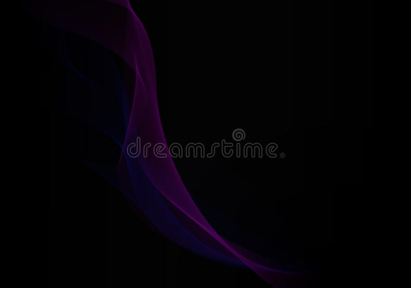 Abstract background waves. Black and multicolored. Abstract background vector illustration
