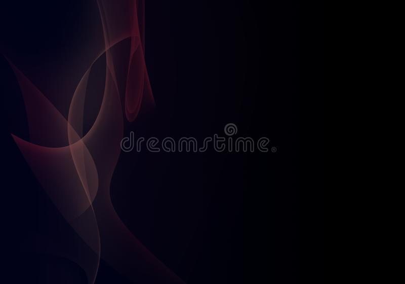Abstract background waves. Black and multicolored. Abstract background royalty free illustration