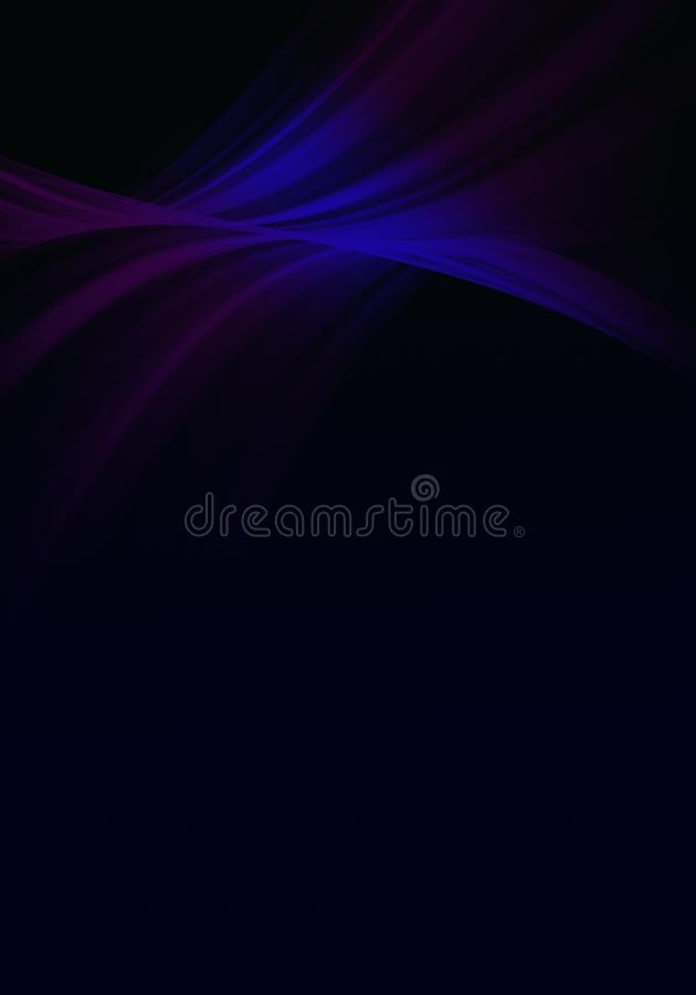 Abstract background waves. Black and blue. Abstract background stock illustration