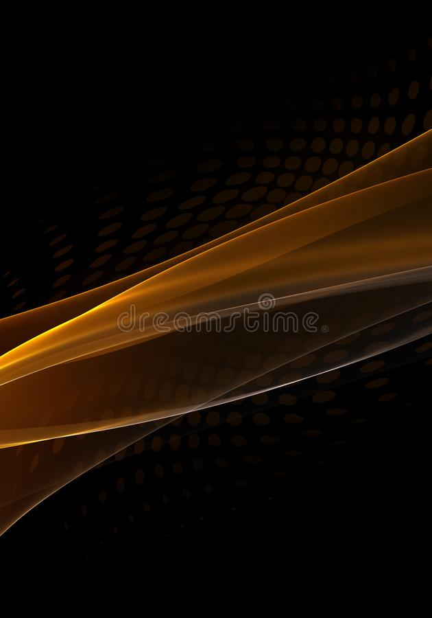 Abstract Background Waves Black And Orange Abstract