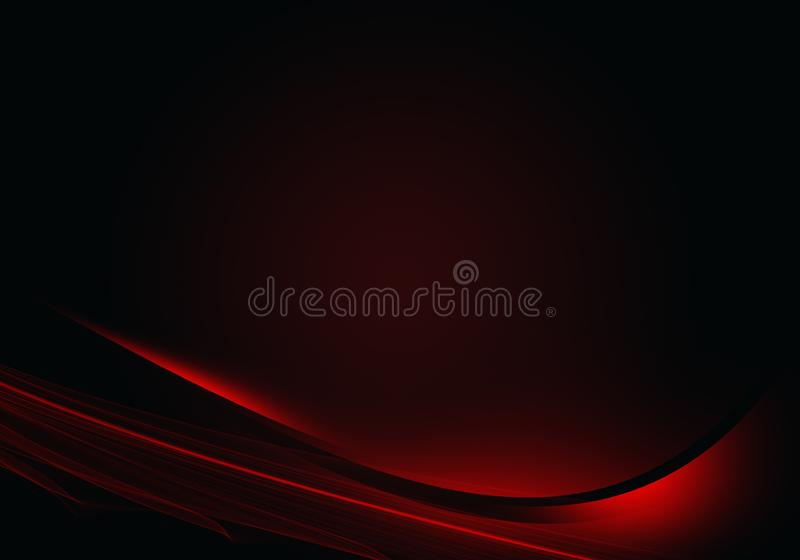 Abstract background waves. Black and red. Abstract background royalty free illustration