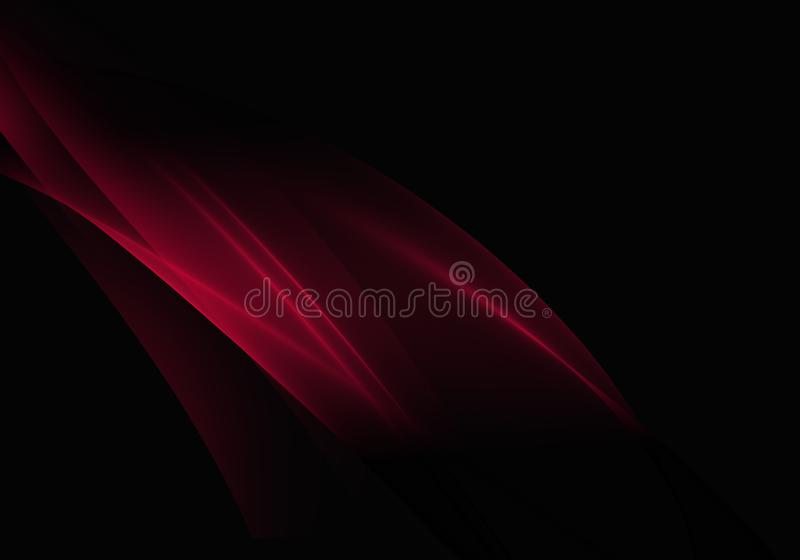Abstract background waves. Black and red abstract background for wallpaper oder business card stock illustration