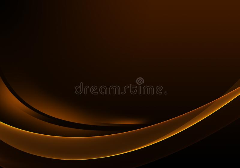 Abstract background waves. Brown and orange abstract background for wallpaper oder business card royalty free illustration