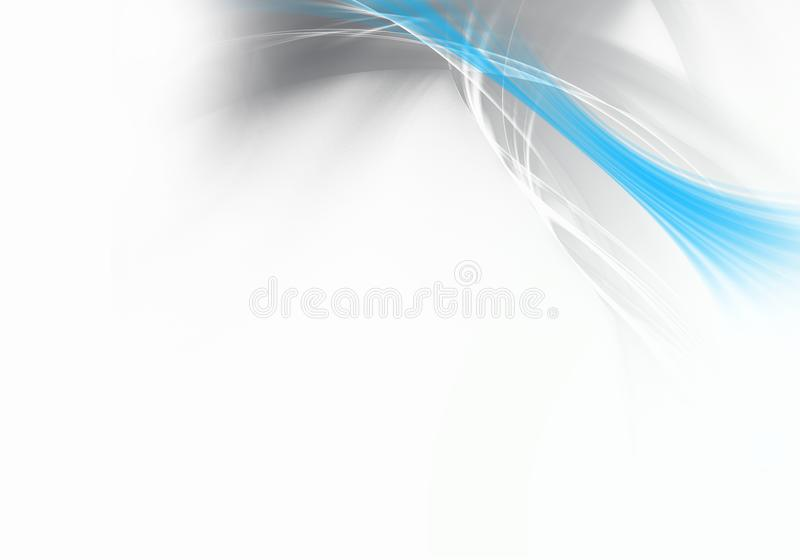 Abstract background waves. Grey and blue. Abstract background stock illustration