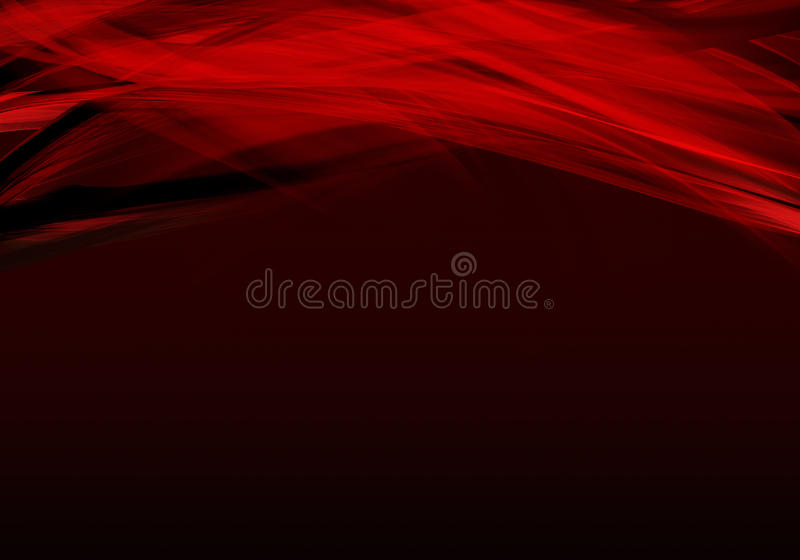 Abstract background waves. Red and black background. stock illustration