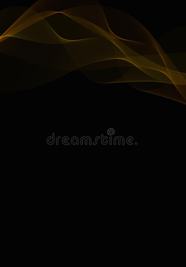 Abstract background waves. Yellow and black. Abstract background vector illustration