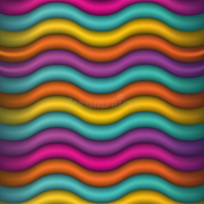 Abstract Waving Colors Background Illustration royalty free stock photography