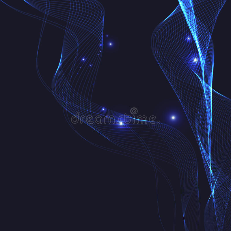 Abstract background with wavy lines stock photography