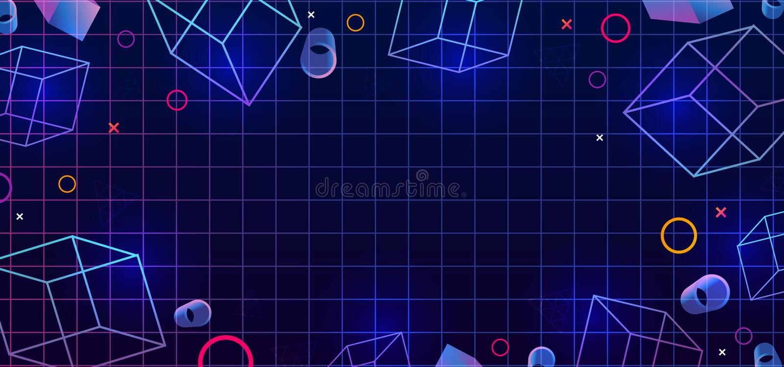 Abstract background for web. Multicolor gradient. Fashion vector gradient 3D background. Colored 3d geometric. Template for banner vector illustration