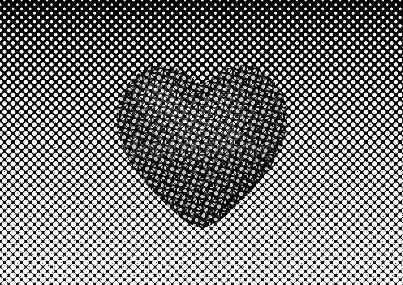 Abstract background in white and black tones stock illustration