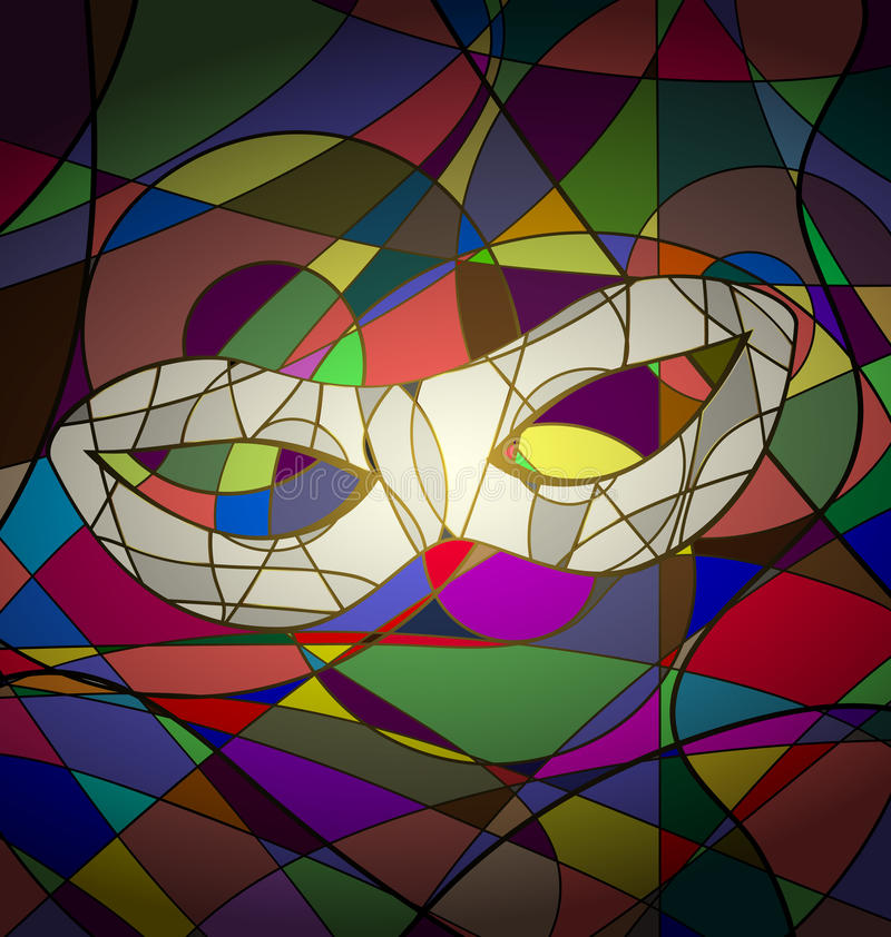 abstract background white carnival mask vector illustration
