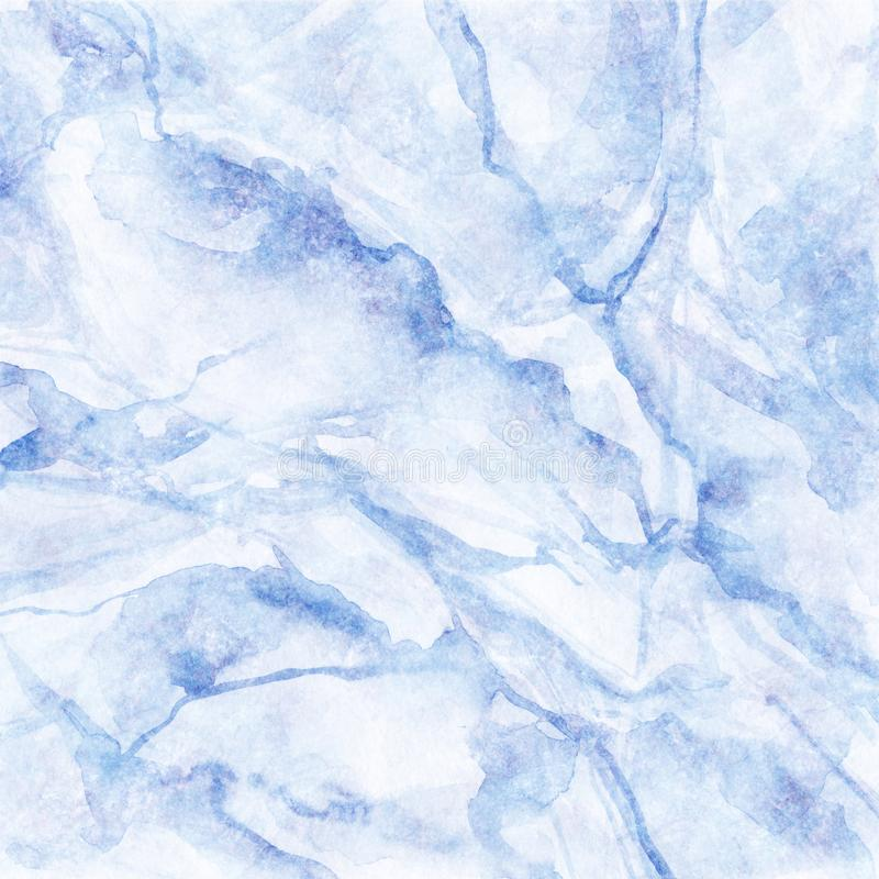 Abstract background, white marble with blue veins, fake stone texture, painted artificial marbled surface, fashion marbling stock illustration