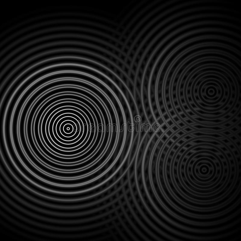 Abstract background, white sound waves oscillating royalty free illustration