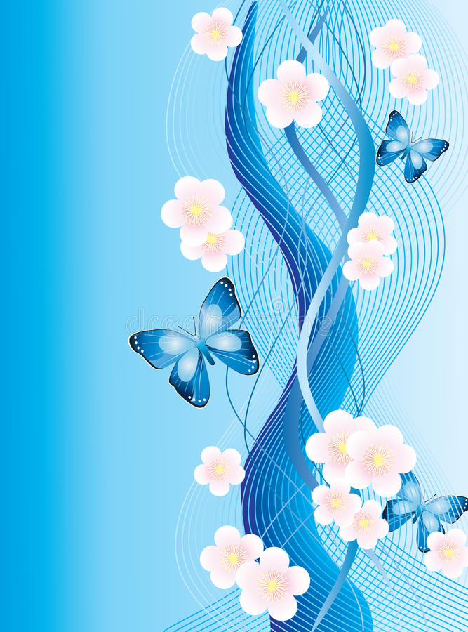 Free Abstract Background With Butterflies Royalty Free Stock Images - 18721939
