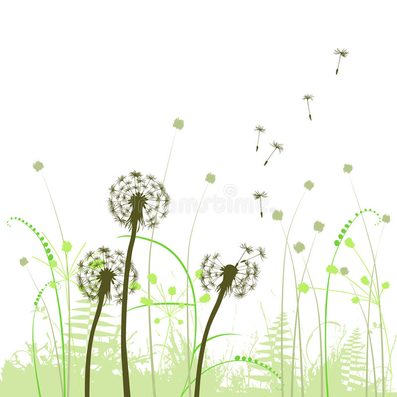 Free Abstract Background With Dandelions Stock Photo - 38327220