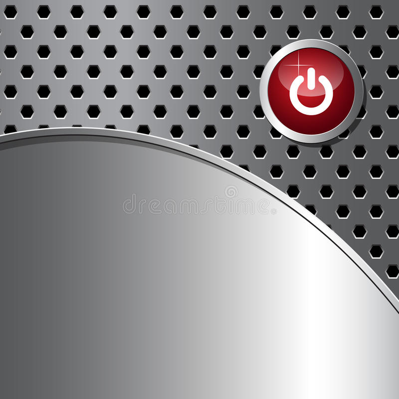 Free Abstract Background With Red Shut Down Button Stock Photos - 26011213