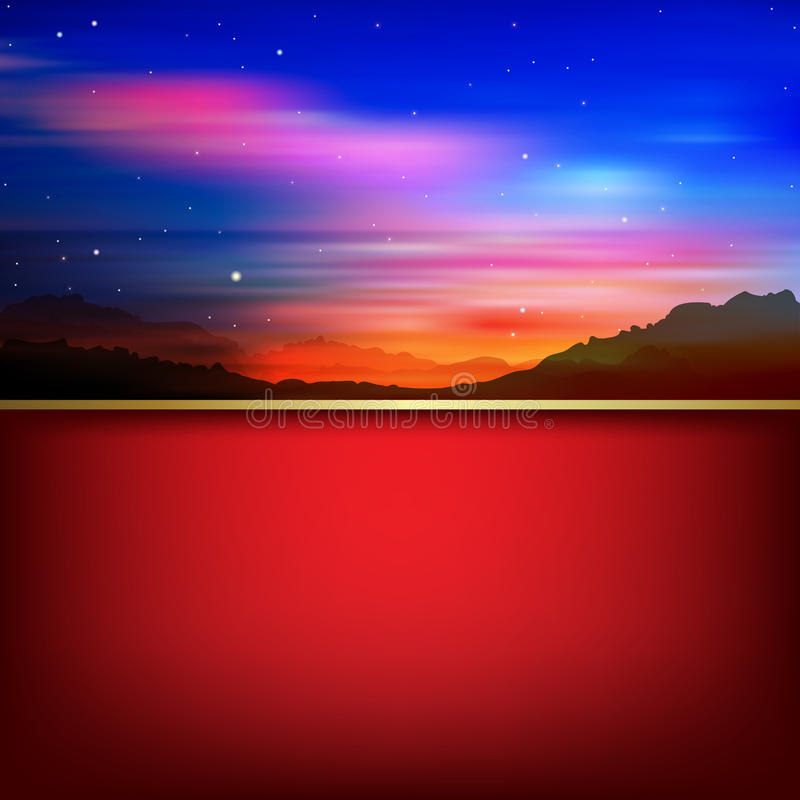 Free Abstract Background With Sunrise And Mountains Royalty Free Stock Images - 33089139
