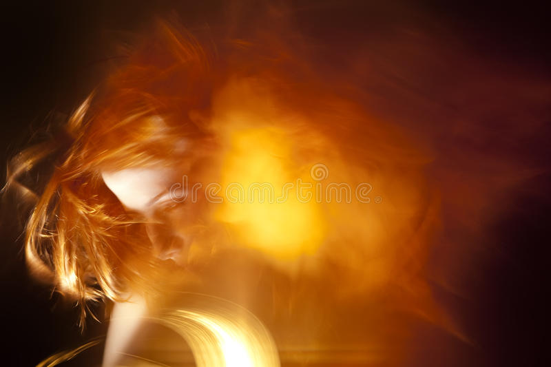 Abstract background women face stock image