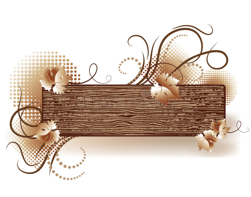 Abstract background with wooden texture vector illustration