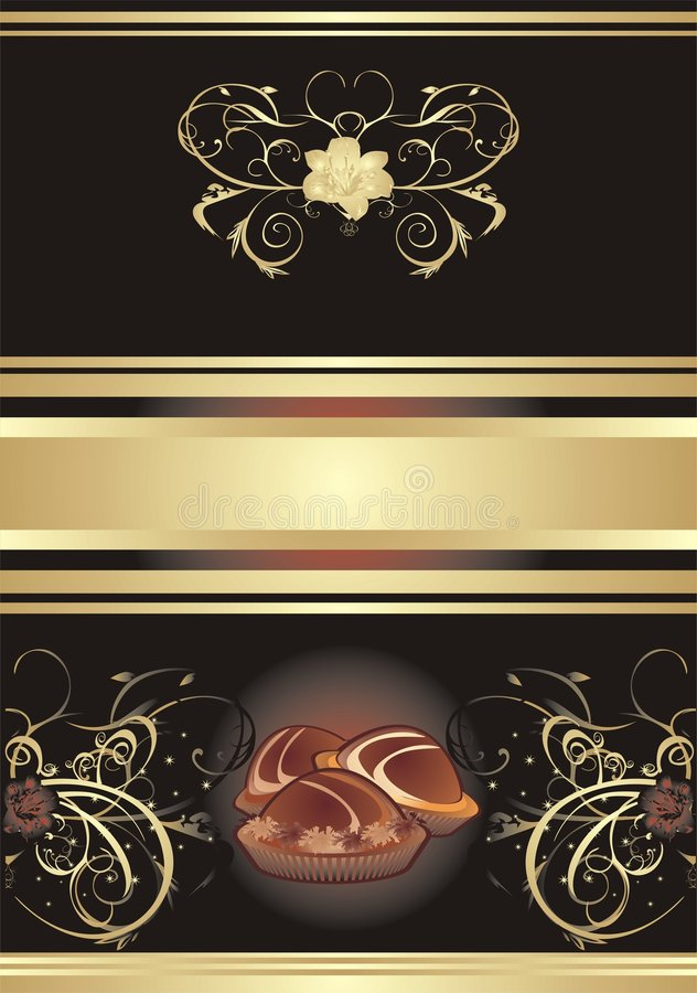 Abstract background for wrapping. Chocolate candie royalty free illustration