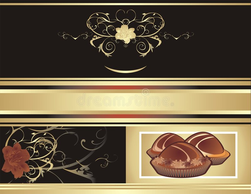 Abstract background for wrapping. Chocolate candie vector illustration