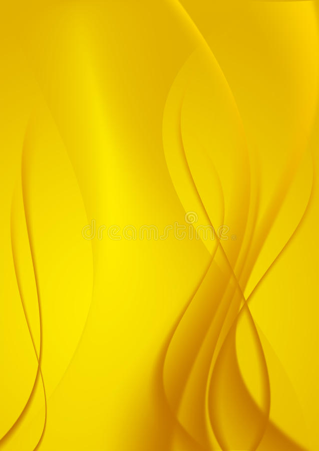 Free Abstract Background Yellow Curves. Stock Images - 9485684