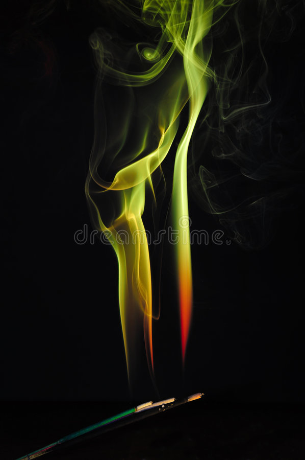 Download Abstract Background - Yellow, Green Fire Shape Stock Illustration - Image: 8046249