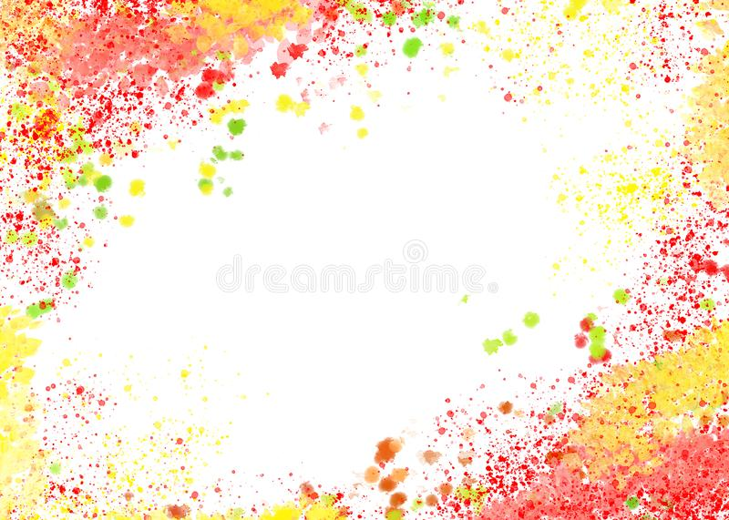Abstract background in yellow-red tones royalty free stock photography